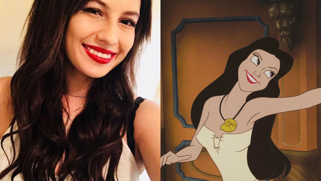 This girl, who looks just like Ursula's human form, Vanessa: