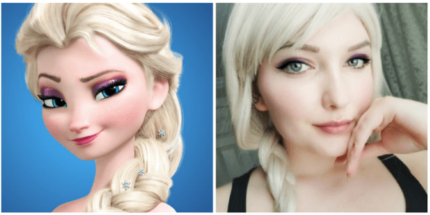 This girl, who has Elsa's reserved elegance, not to mention her eyes: