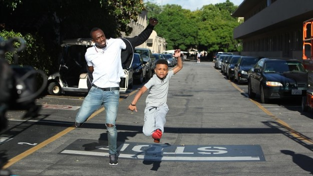 When this eight-year-old kid was confident enough to challenge Usain Bolt to a race.