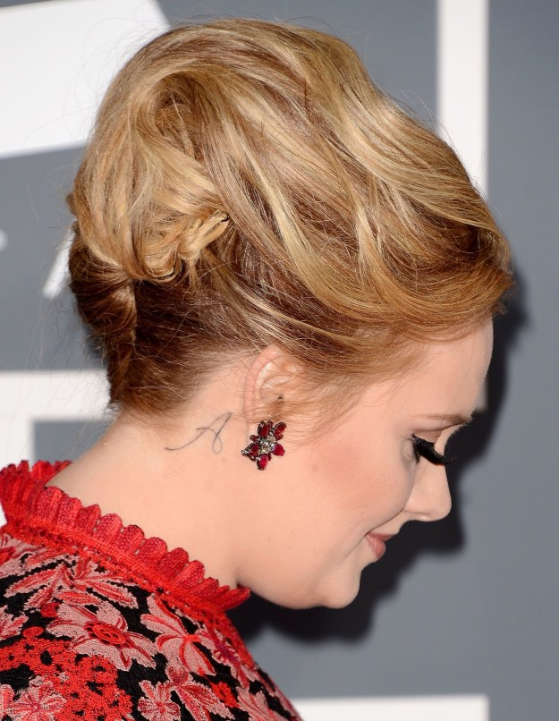 "Adele has an ""A"" behind her ear."
