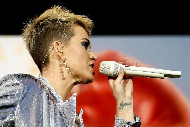 "Katy Perry's ""Jesus"" wrist tat."