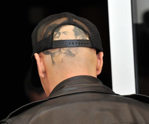 James Franco's big-ass Elizabeth Taylor head tat.