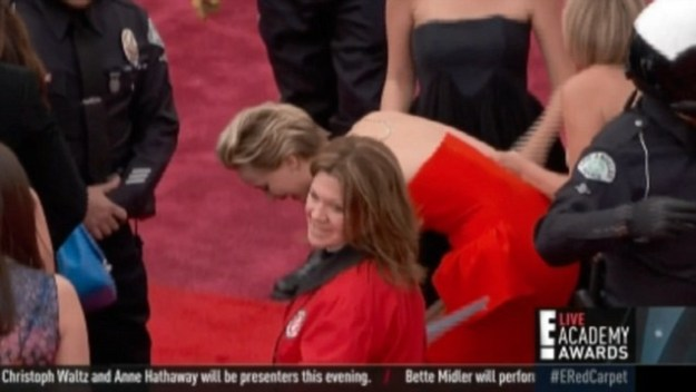 Remember when she walked the Oscars red carpet in 2014 and bit it? Equal parts delightful and relatable.
