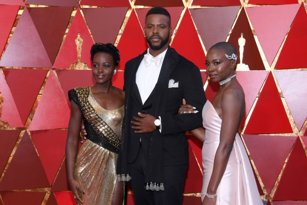 Oh, and he snapped a pic with Lupita and Danai because it's about time we had nice things!