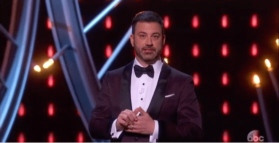 During the Oscars tonight, host Jimmy Kimmel decided to surprise an unsuspecting audience who were watching an early screening of A Wrinkle in Time.