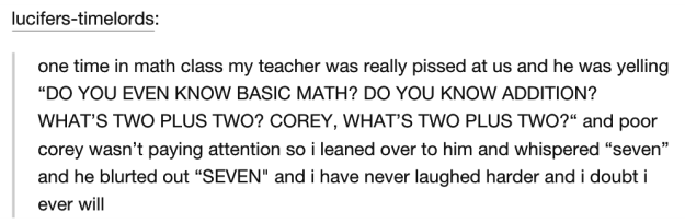 The one about the angry math teacher:
