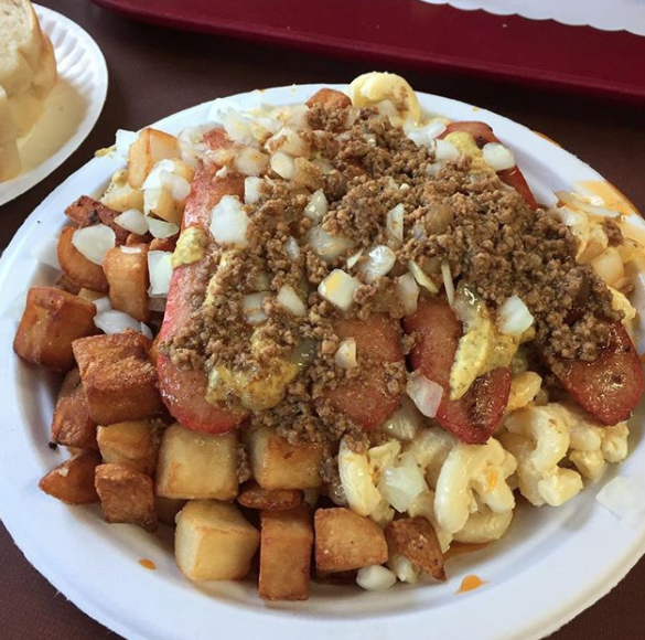 New York – The Garbage Plate from Nick Tahoe Hots