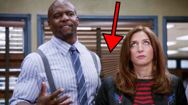 "In Brooklyn Nine-Nine, it's revealed that the new captain is ""too stupid to work the blinds."" Later in the episode, you can see the blinds in the background aren't closed properly."