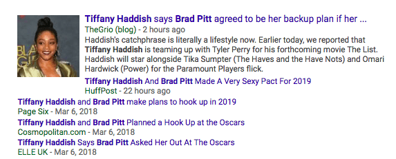 Of course, the quote became newsworthy because...that's what happens when one famous person says anything about another famous person! That's just how the internet works!