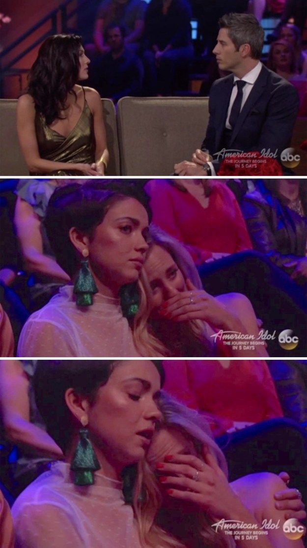 When Becca and Arie spoke for the first time since their breakup, Kendall cried.