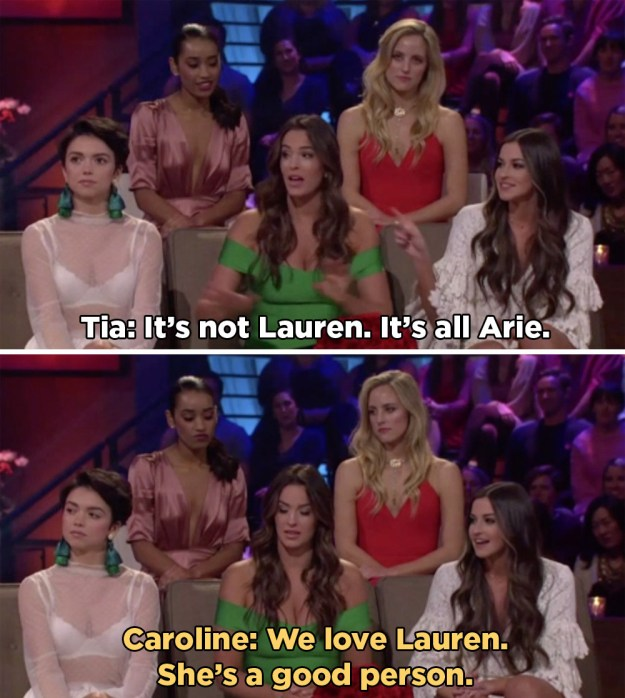 And they kept their critiques squarely focused on Arie instead of hating on Lauren at all.