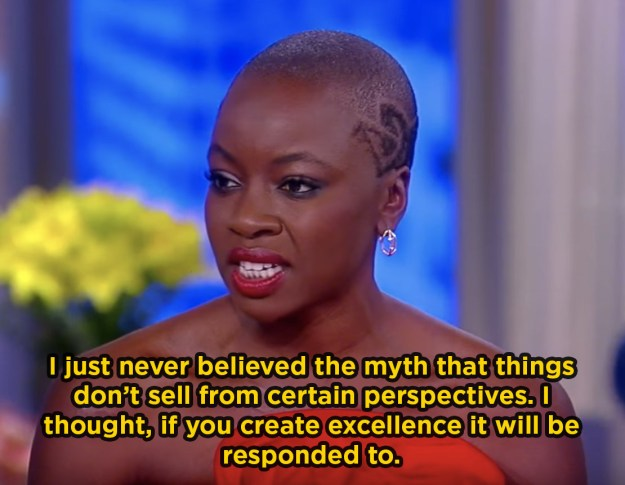 When she talked about Black Panther's success: