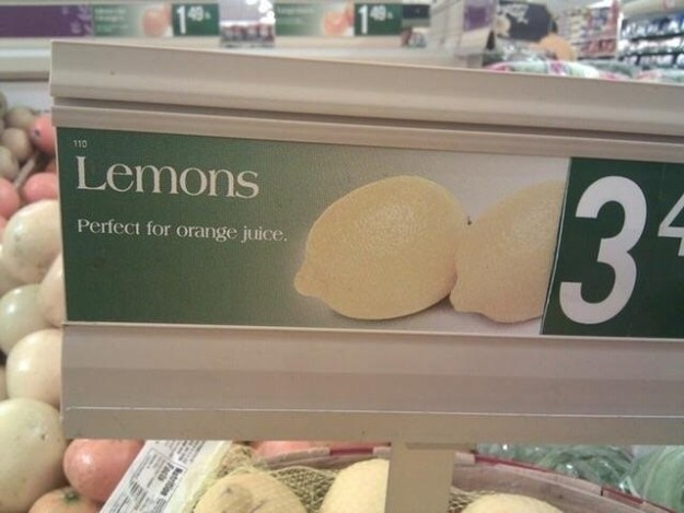 This store that couldn't tell the difference between fruit.