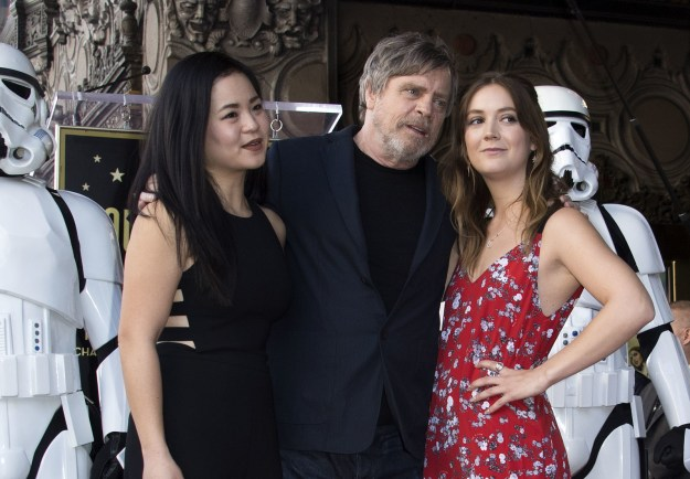 And of course, Mark didn't celebrate the honor alone. He was joined by his Star Wars co-stars Kelly Marie Tran and Billie Lourd...