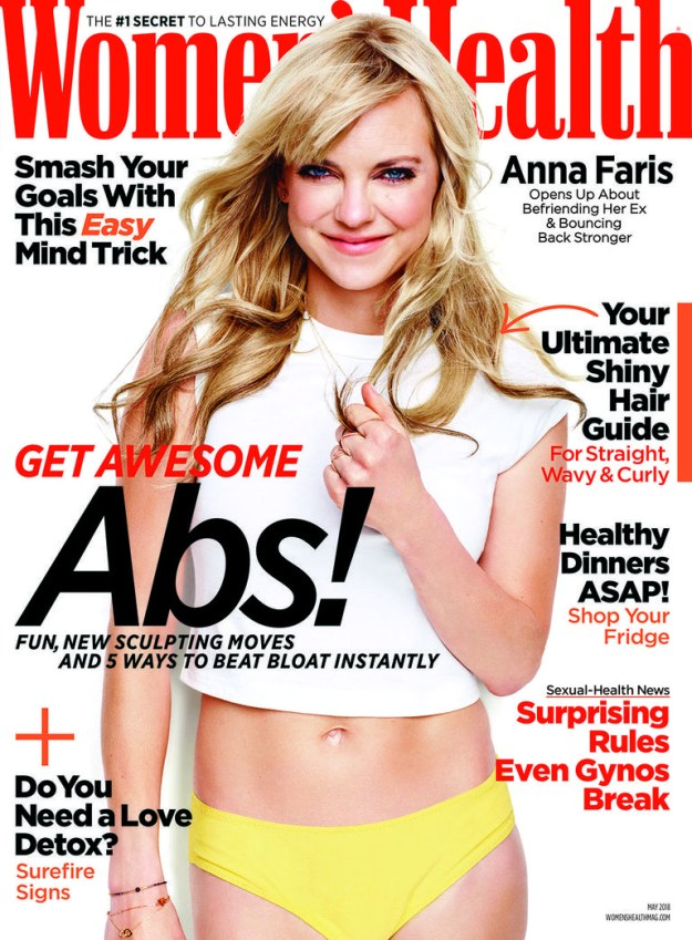 Anna Faris is on the May cover of Women's Health and she talked about everything from her boobs to her new film Overboard...