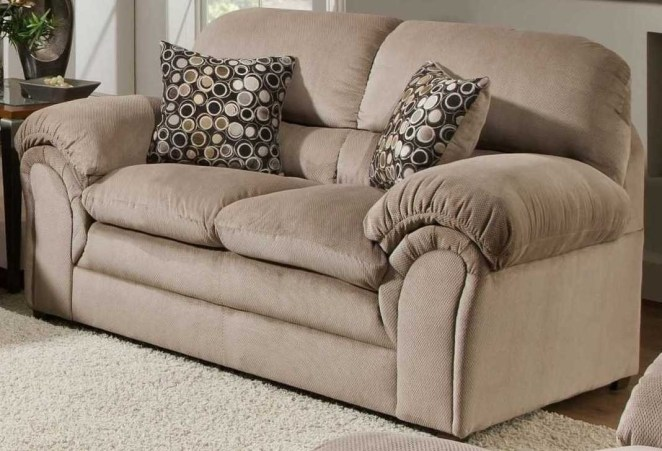 """Promising review: """"Both the sofa and loveseat are great. I bought them together and am very happy with them. The color and construction are very nice. The contracted movers who delivered the furniture were on time and positioned the furniture as instructed. The throw pillows (two each) were a nice touch."""" —Daryl L. HansonGet it from Amazon for $424.99 (originally $574.99)."""
