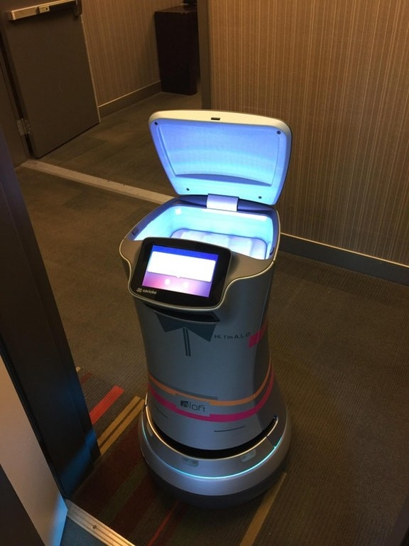 This hotel has a robot that delivers toilet paper straight to your door when you need it.