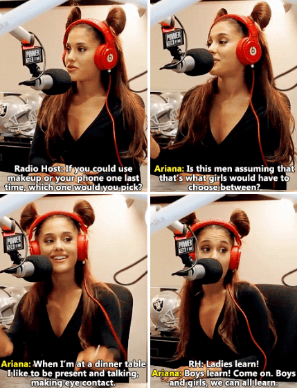 When she called out radio hosts for this question: