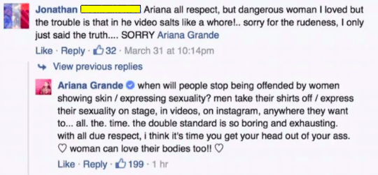 And this person, who criticized her video: