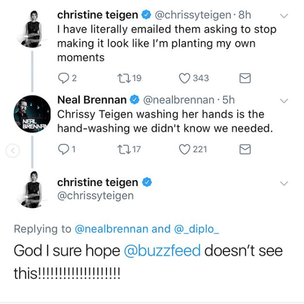 Please keep the 🔥 content coming, Chrissy.