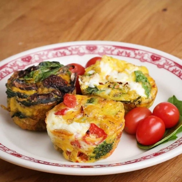 Veggie egg cups you can whip up quickly with whatever veggies you acquire around.