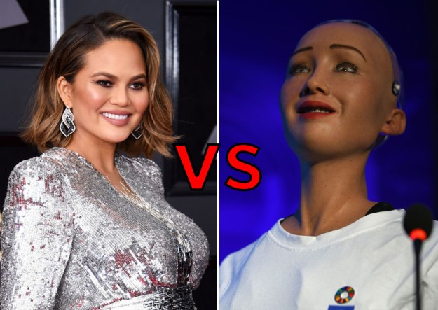 Chrissy Teigen vs. Sophia the Robot
