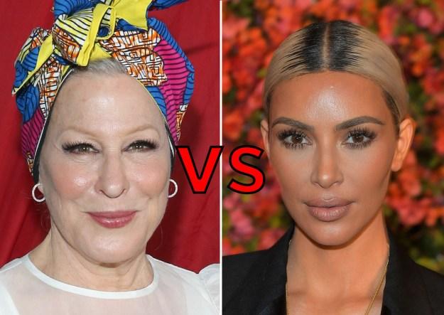 Bette Midler vs. Kim Kardashian