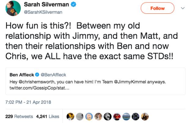 Sarah Silverman tweeted this: