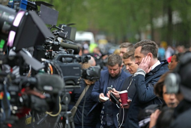 """As the news broke that the Duchess of Cambridge had gone into labour this morning, the world's media took the emergency axe to the glass marked """"royal baby""""."""