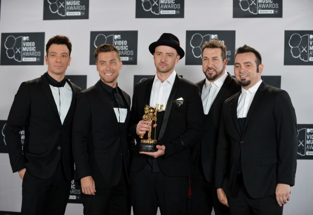 Before he contributed to the Trolls soundtrack, Justin Timberlake reunited with his NSYNC bandmates for his VMAs Vanguard performance.