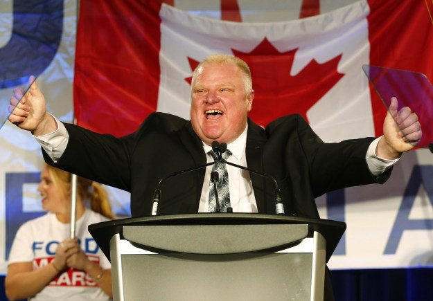 This is Rob Ford, the late mayor of Toronto who became internationally infamous when he was filmed smoking crack.