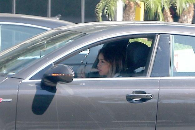 Vanessa Hudgens, a car vaper.