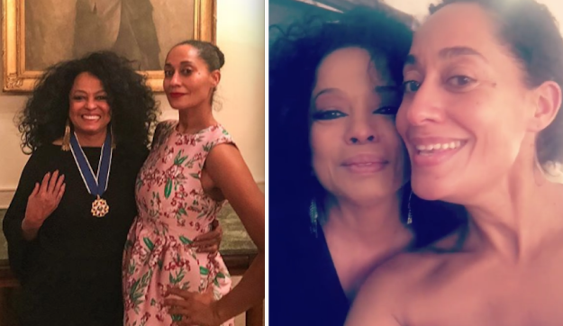 And Tracee Ellis Ross is Diana Ross's daughter: