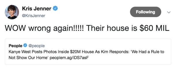 ...but THREE news stories based on Kanye and Kim. The devil works hard, but Kris Jenner works HARDER.