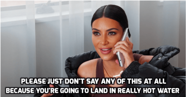 "However, when Caitlyn began to say that the public's response to the advert was ""a joke,"" Kim urged her to simply not address the controversy at all."