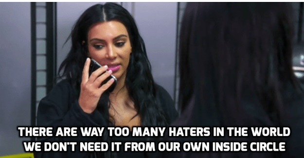 And when things didn't improve, Kim called Rob and told him to end the public feud.