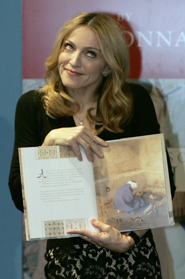 Prolific author, Madonna.