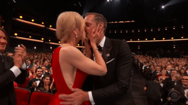 When she kissed Alexander Skarsgård on the lips in front of the whole world — and also in front of her husband.