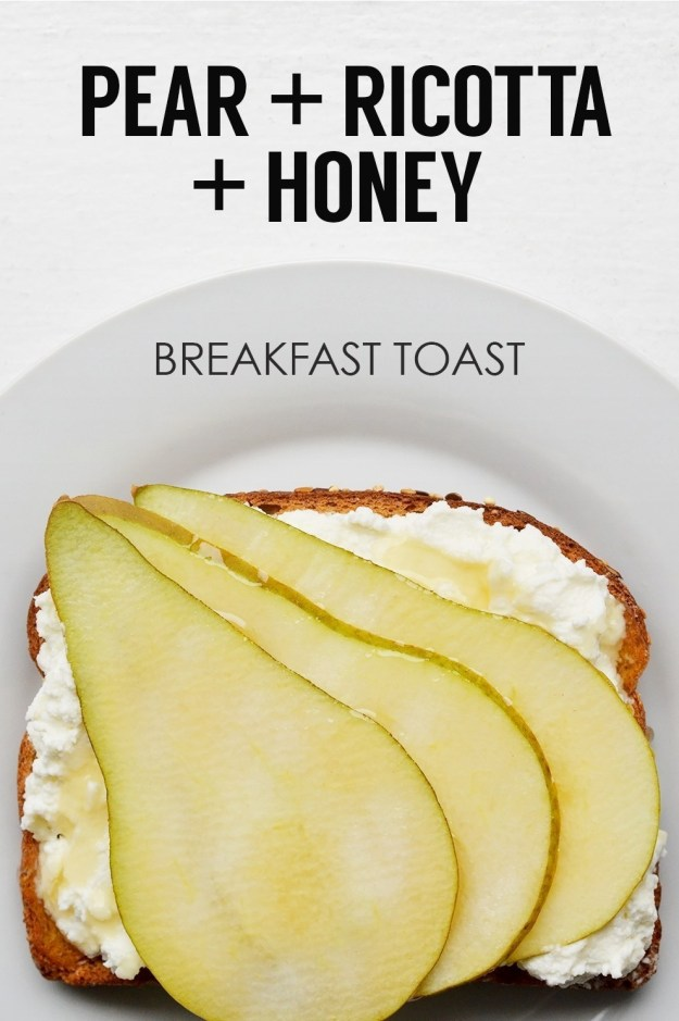 Pear, Ricotta, and Honey Toast