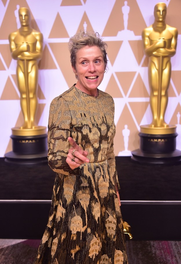 And this is Frances McDormand. She is an equally perfect, Oscar-winning human being.