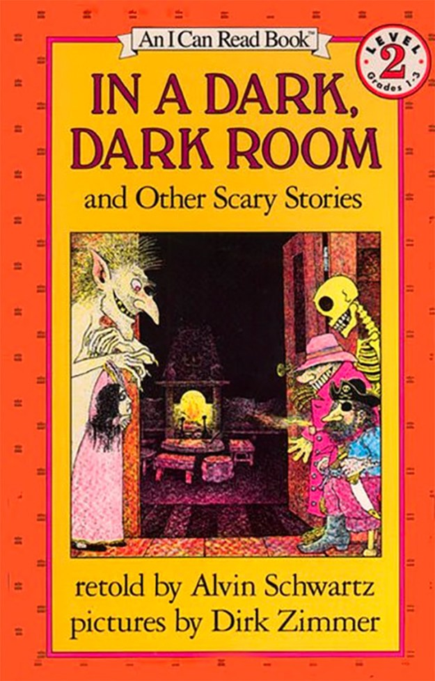 In a Dark, Dark Room and Other Scary Stories by Alvin Schwartz.