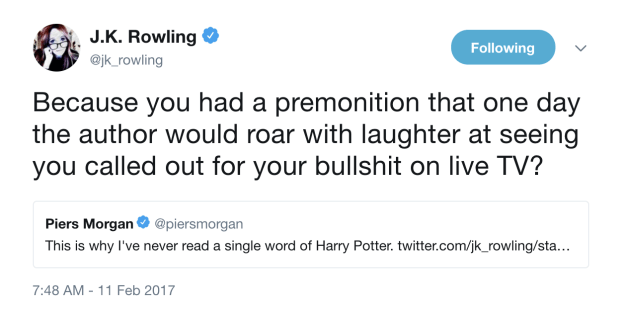 When she went after Piers Morgan during their Twitter feud: