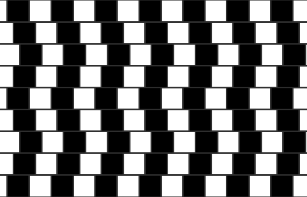 """And others have compared it to the infamous """"Café wall illusion."""""""