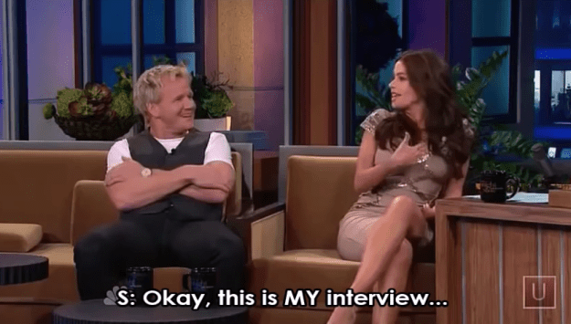 And when Sofia Vergara basically told Gordon Ramsay to butt out after he said her son's name (Manolo) sounds like a paint: