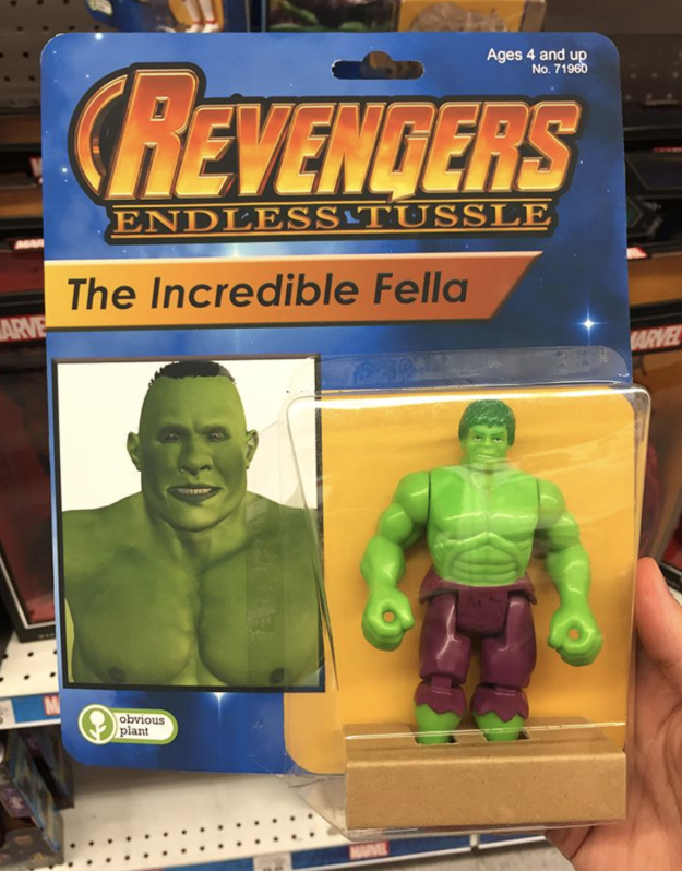 First off, we have The Incredible Fella. He's a thicc green giant!