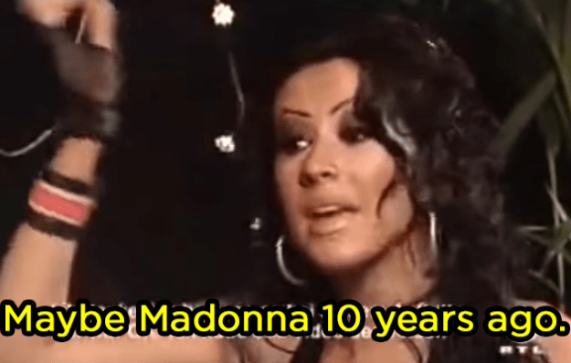 When she was asked if she would do a song with Madonna: