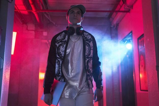 And Derek Klena, aka Douglas, aka DJ Fingablast, comes back in Episode 3 and asks the Reverend to DJ his wedding.