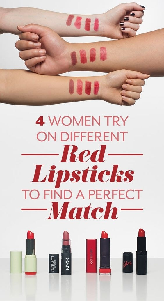 If you don't believe me check out how four Angle Newsers tested out red lipsticks! In the end, everything they had read about their hair and undertones was completely irrelevant. They just liked what they liked. It's all about experimenting! The four lipsticks they tested (and loved) were Pixi Mattelustre Lipstick in coral red ($6 on Pixi), Rimmel Lasting Finish By Kate in Rosetto ($4.95 on Amazon), CoverGirl Colorlicious in cherry ($5.99 on Target; available in nine colors), and NYX Velvet Matte in charmed ($4.89 on Amazon).