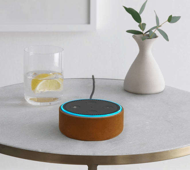 """The Echo Dot is a hands-free, voice-controlled device that uses Alexa to play music, control smart home devices, make calls, send and receive messages, provide information, read the news, set music alarms, and read audiobooks from Audible (like, literally I have told her to tell me a bedtime story and she does a way better job of it than my spouse — and with far less complaining). The Echo Dot can also control Amazon Video on Fire TV, give random facts throughout the day, tell you the weather (which I use literally every morning instead of just opening my curtains and letting in some light), and can help you with grocery lists, recipes, and set timers... I'm still just trying to figure out what my Echo Dot CAN'T do. Promising review: (Echo Dot) """"I love this incredible little helper! It was super easy to set up and I was playing music in my stereo within 15 minutes. I have two, and I set up a group so the music can play on both dots at the same time. They respond quickly to voice commands and it's rather fun to check out what they can do. The funniest thing is to ask Alexa to tell me a vegetable joke! And the most useful for me is being able to tell Alexa to add things to my shopping list, which is sent to my phone, and not having to write things down. You can even set reminders so you don't forget things, timers so you don't burn dinner, and alarms that wake you. I'm going to explore and see what all this little device can do!"""" —CactusMamaGet it from Amazon for $49.99."""