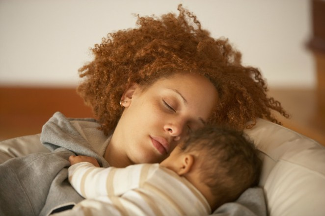 Most moms see their provider six weeks after delivery (or at two weeks and six weeks, if you had a c-section), and then take their baby to a pediatrician a few days after birth, two weeks after birth, and two months after birth. While you can certainly mention any emotional struggles at that first visit, you'll actually receive a specific mental health questionnaire at the pediatrician appointment — something I didn't realize with my first child. Dr. Gina Posner, a pediatrician at MemorialCare Orange Coast Medical Center, tells Angle News that this is intentional: even though she'll do a full-body check for the baby, she's also looking for signs of postpartum depression from moms, such as blaming themselves more than normal, feeling down, or crying all the time.